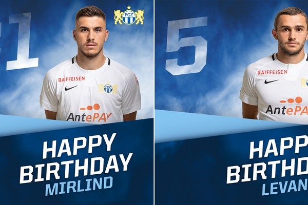 Happy Birthday Levan Kharabadze und Mirlind Kryeziu