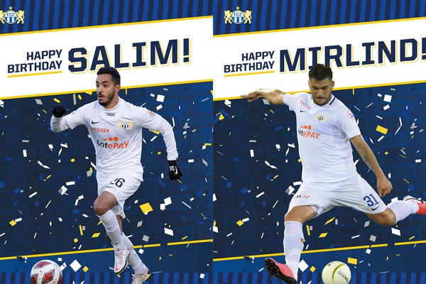 Happy Birthday Salim Khelifi und Mirlind Kryeziu
