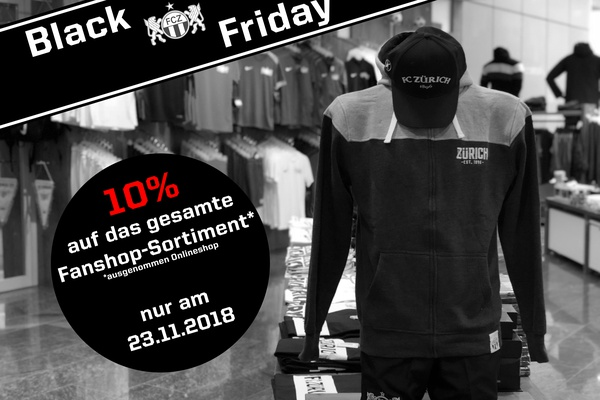 Black Friday im FCZ Fanshop