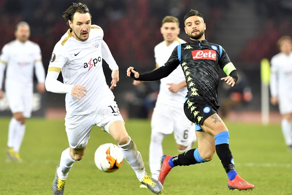 FC Zurich suffer 1:3 defeat against SSC Naples