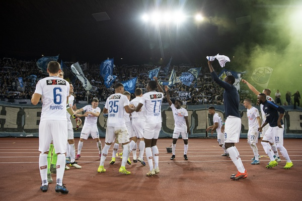 FC Zurich celebrate 3-2 victory against FC Basel